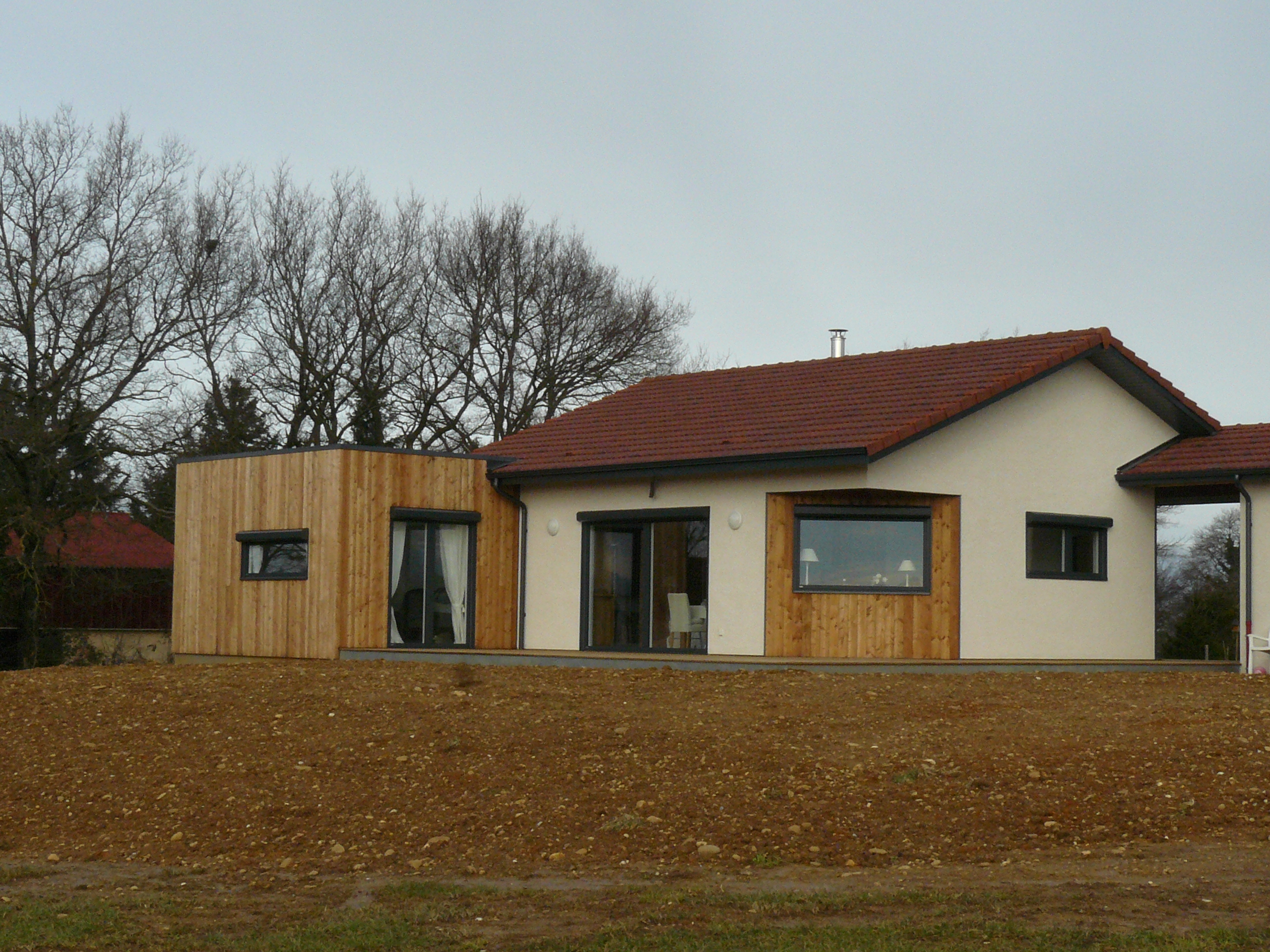 Constructeur maison contemporaine nord isere for Constructeur maison contemporaine