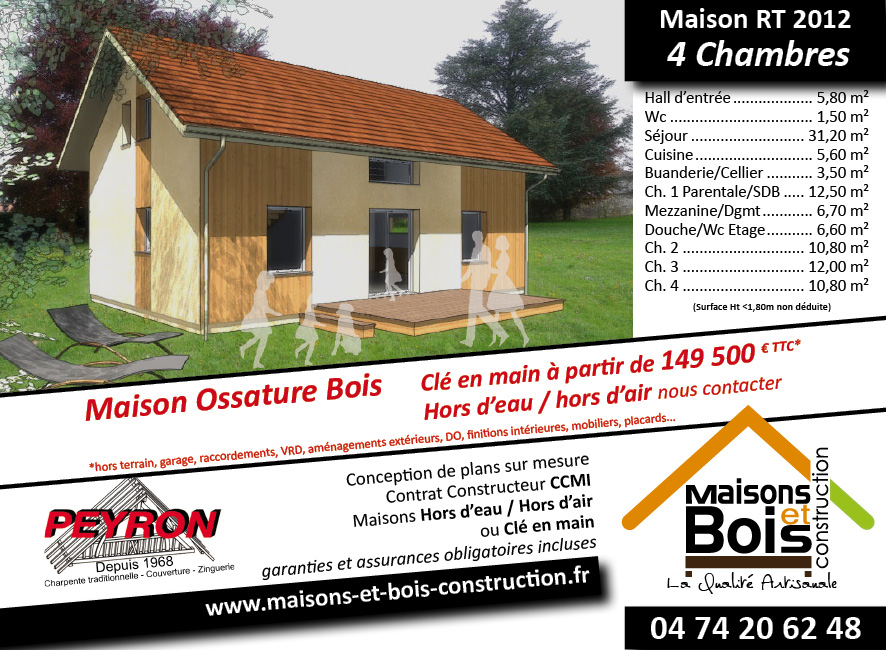rt 2012 maisons bois construction en is re 38. Black Bedroom Furniture Sets. Home Design Ideas